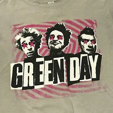 Green Day T Shirt Womens M Uno Dos Tre 2012 Concert Tour Gray Short Sleeve