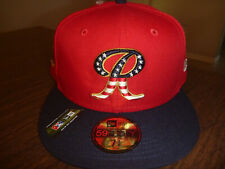 TACOMA RAINIERS NEW ERA MiLB 59FIFTY 4TH OF JULY ON FIELD RED FITTED HAT 7 3/8