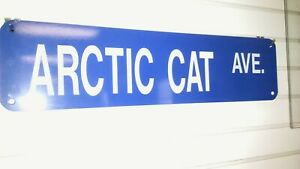 ARCTIC CAT BLUE/WHITE STREET SIGN *New Display Item*