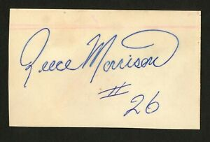 Reese Morrison signed autograph 3x5 card Cleveland Browns Football Player F130
