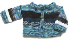 New Kss Handmade Blue, White Baby Sweater/Cardigan (6 Months) Sw-491 on Sale
