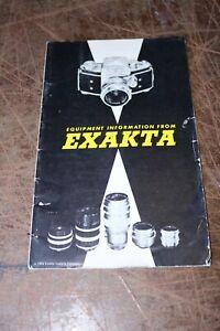 manual instructions exakta 1954 equipment information booklet