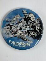 Vintage 1982 Walt Disney Productions Future World Epcot Center Button Pin Badge