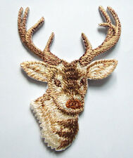 Cute Pretty Beautiful Reindeer Christmas Embroidered Iron on Patch Free Postage
