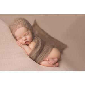 Newborn Baby Blanket Swaddle Wrap Winter Warm Plush Hooded Sleeping Bag FA