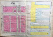 ORIGINAL 1908 PHILADELPHIA, PENNSYLVANIA RAIL ROAD FERRY (WARD 6) PLAT ATLAS MAP