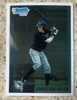 2010 BOWMAN CHROME CHRISTIAN YELICH MILWAUKEE BREWERS ROOKIE CARD MINT
