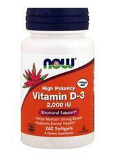 Now Foods, Vitamin D-3, 2.000 IE, 240 Weichkapseln
