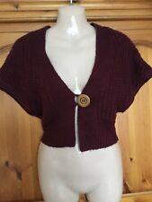 ❤️ Womens New Look Burgundy Bolero Shrug Size 10 ❤️