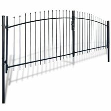 Double Door Fence Gate with Spear Top 400 x 175 cm