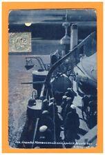 BATEAU DE GUERRE / Scene de bord / MARINS sur PONT aprés les MANOEUVRES en 1907