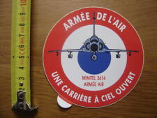 Autocollant Sticker ARMEE DE L'AIR CARRIERE A CIEL OUVERT Minitel