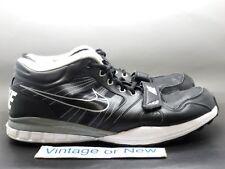 Men's Nike Trainer 7v7 Black White Silver Training Shoes 408645-011 sz 14