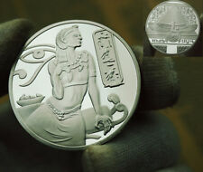 Egyptian Ancient Goddess Of Egypt Isis Collectable Commemorate Coin Silver