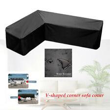 L Shape Sofa Furniture Cover Patio Outdoor Garden Rattan Corner Sofa Protective