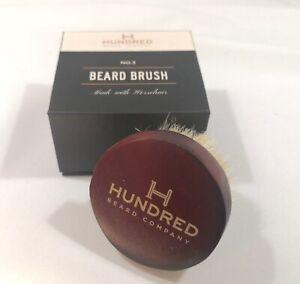 No 3 Beard Brush, Horsehair Beard and Hair Brush by Hundred Beard Company