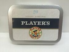 Players Navy Cut Advertising Brand Cigarette Tobacco Storage 2oz Hinged Tin