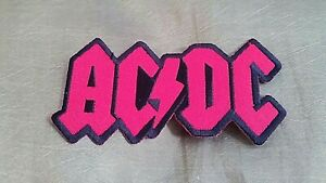 """""""AC/DC"""" PATCH EMBROIDERED HEAVY METAL ROCK & ROLL PUNK AC DC MINT !! NEW"""