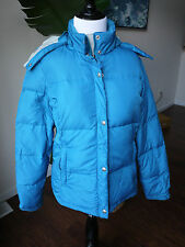 Women's S AMERICAN EAGLE OUTFITTERS Blue Duck Down Puffer Jacket Coat