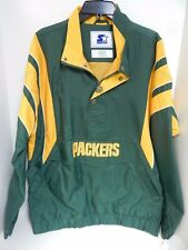 Green Bay Packers Men's Jacket Pullover w Snaps Starter Sample Large
