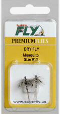 SUPERFLY PREMIUM FLIES DRY FLY MOSQUITO SIZE # 12 2 PACK NEW IN PACKAGE (B2)