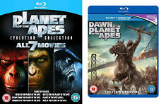 PLANET OF THE APES Complete BluRay All 8 Movie Dawn Rise Beneath Conquest Battle