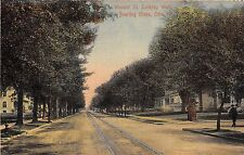 Ohio postcard Bowling Green Wooster Street looking West residential street scene