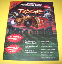 Atari PRIMAL RAGE Original NOS Video Arcade Game Pro Strategy Guide Magazine