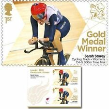 UK ParalympicsGB Gold Medal Winner Miniature Sheet - Sarah Storey Women's 500m C