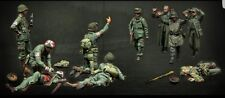 1/35 U.S. Army and German soldiers Historical WWII Figure Resin Kit Unpainted
