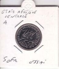 """ESSAI 50 FRANCS ETATS AFRIQUE CENTRALE LETTRE """"A"""""""