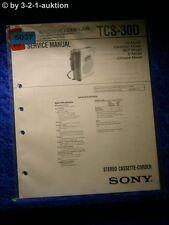 Sony Service Manual TCS 30D Cassette Corder (#5037)