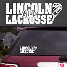 Girls Lacrosse Team Decal, Girls Lacrosse School Car Decal, 12 decals