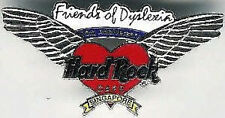 Hard Rock Cafe SINGAPORE 2000 10th Anniversary PIN Heart Dyslexia