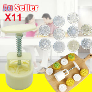 Mooncake Mould Decor Cookies Round Pastry Moon Cake DIY Flower Stamps Mold