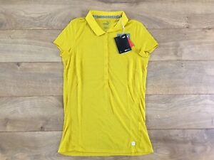 PUMA Slim Stretch 1/4 Sleeve Golf Polo Sulphur Yellow Women's SZ S ( 595135 07 )
