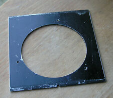 early 1930 style pattern Linhof  flat  Lensboard  with 64mm hole 90.5 x 87
