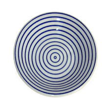"""2 PCS Japanese 3.5""""D Porcelain Sushi Soy Sauce Dipping Plate Dishes Blue Circles"""