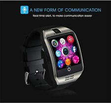 Q18 Bluetooth Smart Watch Support SIM TF Card Camera Black