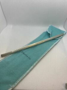 Tiffany & Co. Sterling Silver Drinking Straw & Pouch
