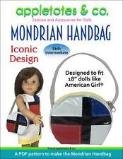 "American Girl Doll Sewing Pattern -Mondrian Handbag Sewing Pattern for 18"" Dolls"