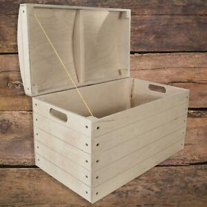 Extra Large Wooden Decorative Chest Storage Toy Trunk Box|56.5 x 33.5 x 36.5 cm