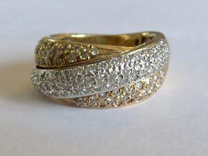 FABULOUS 1 CARAT DIAMOND RING IN THREE COLOUR 18K GOLD