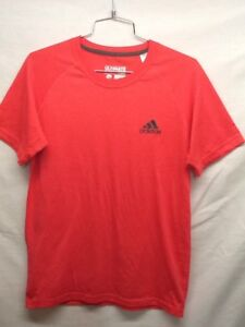 Adiadas CLIMALITE Ultimate Tee Size S Small Womens Work Out Coral Red