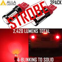 LED 4-STROBE Brake/Red Tail Light Bulb for 2007-2009 2012-2017 Toyota Camry,Pair