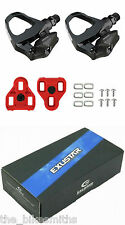 Exustar PR16 Clipless Road Bike Pedals w/ Arc-10 Cleats fits LOOK KEO Black
