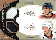 10/11 UD SPX Winning Combos #OG Alex Ovechkin & Mike Green Dual Jersey Card