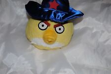 Angry Bird Plush Toy Yellow Triangle Magician Sorcerer Star hat Collectable toys