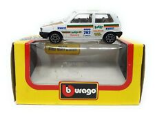 Vintage Bburago 1/43 Fiat Uno Rally white totip  Box Made in Italy model car met