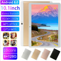 "10.1"" 2 SIM Android 8.0 8+128G Tablet PC 10 Core WIFI bluetooth 4.0 Dual Camera"